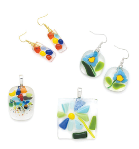 Image of Fused Glass Earrings and Pendants