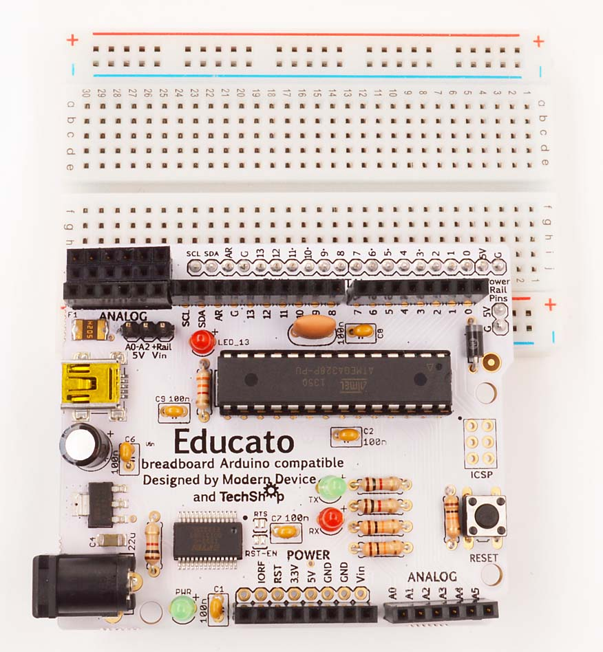 Image of an Arduino Microcontroller