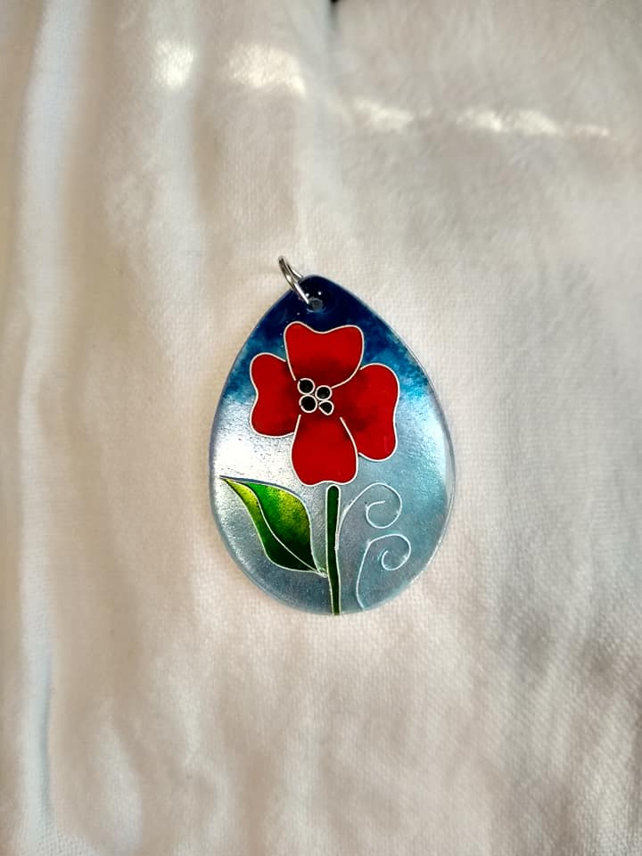 Image of Enamel Pendant Necklace